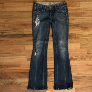Paige laurel canyon jeans boot cut dark distressed